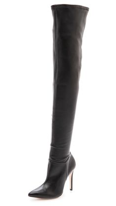 Alice + Olivia Dae Stretch Over The Knee Boots - Black by: alice + olivia @Shopbop YIKES $795!!!! :/ :(