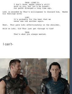 I knew something was off about that scene, Thor is so dense sometimes