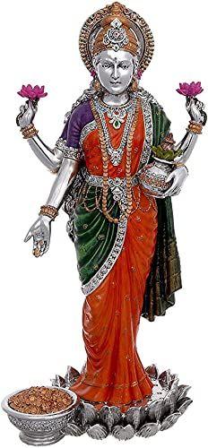 """Lakshmi Statue, Laxmi Statue, 10"""" Hand Painted Goddess Lakshmi Idol. Hindu Goddess of Money,Wealth,Abundance,Fortune,... Lakshmi Statue, Goddess Lakshmi, Religious Gifts, Beautiful Gift Boxes, Fertility, Abundance, Worship, Wealth, Idol"""
