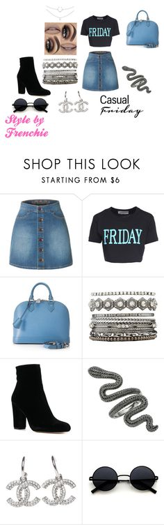"""""""Casual Stoner Fried Day !"""" by stylebyfrenchie ❤ liked on Polyvore featuring LE3NO, Alberta Ferretti, Louis Vuitton, Charlotte Russe and stylebyfrenchie"""