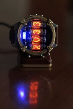 Nixie watch, Metro watch, Titanium watch, self made, Full functions with accelerometer. Best Watches For Men, Cool Watches, Nixie Tube Watch, Full Option, Full Sleeve Tattoo Design, Deep Silver, Titanium Watches, Docking Station, Fantasy Jewelry