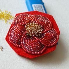 Создаем кожаный ободок с вышитым бисером цветком - Ярмарка Мастеров - ручная работа, handmade