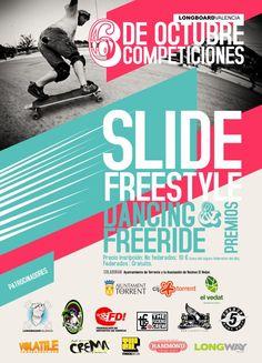 6 de Octubre. Varias competiciones de longboard organizadas por Longboard Valencia