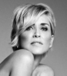 Excellent hairstyle, Sharon Stone 2015