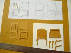 tutoral making chair in a hard paper called Stencil paper.( the inside of a swedish milk bardboard, is the same paper) Brilliant