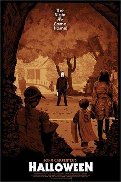 """Halloween"" by Chris Koehler Films D' Halloween, Halloween Club, Halloween Artwork, Halloween Series, Halloween Poster, Halloween Horror, Halloween Wallpaper, Horror Icons, Horror Movie Posters"