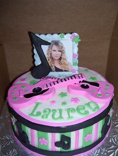 Taylor Swift Cake by Sweet Dreams Confections, via Flickr Taylor Swift Cake, Taylor Swift Party, Taylor Swift Birthday, 10th Birthday Parties, Birthday Cake Girls, Birthday Bash, Birthday Ideas, Rock Star Party, Cake Pictures