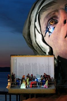 Another incredible set for the Bregenz Opera Festival in Austria. For André Chénier Opera on the Lake. Designed by David Fielding.