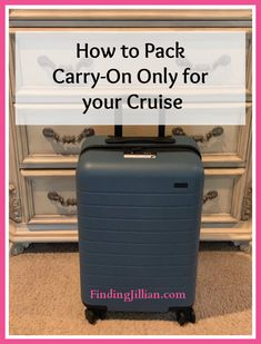 Packing Light for a Cruise ~ Finding Jillian - You can pack light for your cruise vacation. Carry on only Suitcase Packing Tips, Packing Tips For Vacation, Carry On Packing, Cruise Tips, Cruise Travel, Cruise Vacation, Travel Packing, Travel Tips, Disney Cruise