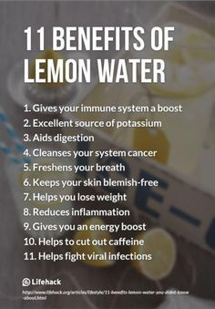 Benefits of Lemon Wate