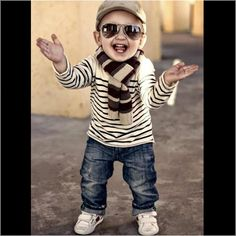 Cute little boys outfit.
