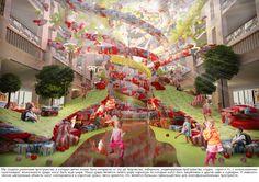 Концепция-проект для «Детского мира» Центральной детской магазине по MILODAMALO Studio, через Behance