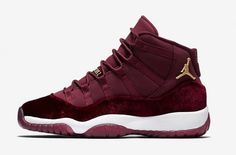 b544f790cf62a2 The Air Jordan 11 GS Red Velvet is part of Jordan Brand s  Heiress   collection. This Air Jordan 11 features a full Night Maroon upp.