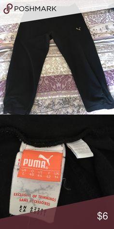 Puma workout capris Black capris by Puma good used condition size large Puma Pants Capris