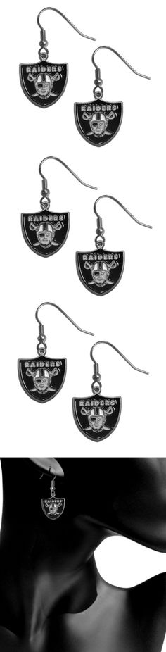 Oakland Raiders Dangle Earrings! Click The Image To Buy It Now or Tag Someone You Want To Buy This For. #OaklandRaiders