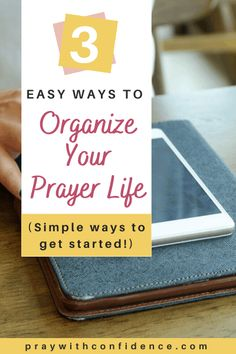 How to organize your prayer life, no matter how crazy life is. 3 simple ways to organize your prayer life. Prayer For Stress, Prayer For Peace, Night Prayer, Jesus Prayer, Prayer For You, Power Of Prayer, My Prayer, Prayer Room, Prayer Board