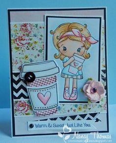 cc designs latte kiki | CC Designs Cards/Stamps / Latte Kiki