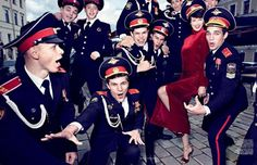 Vogue Russia September 2014 - Russian Style Photosession by  Alexey Lubomirsky  starring Lindsey Wixson filmed in St.Petersburg. The comprehensive  collection of russian style cliches