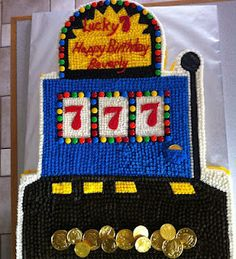 Jackpot Slot Machine Cake Made A 50th Birthday Card Using