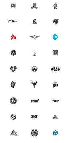 Symbol & Logo Design Archive 94-08 by Gert van Duinen, via Behance #logo #inspiration