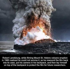 This picture was taken on Big Island in Hawaii in July 2008 from the Kalapana overlook. The Halema'uma'u volcano was erupting higher up on the island and the lava flowing into the sea was producing a gigantic plume of volcanic gas/water vapor. The lava mo