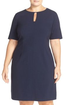 Tahari Keyhole Panel Short Sleeve Sheath Dress (Plus Size) available at #Nordstrom