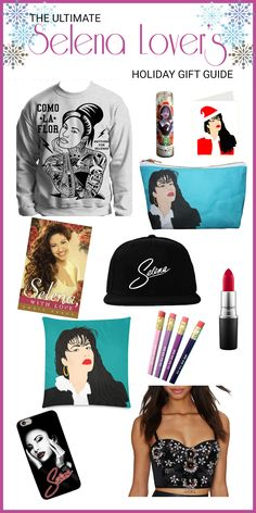 Selena sweater, Selena hats, even Selena pencils! All the gifts for the Selena Quintanilla fan in your life.