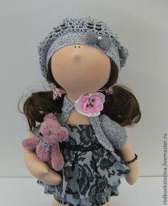 Купить Лиза - серый, кукла ручной работы, интерьерная кукла, интерьерная игрушка, hand made