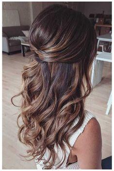 Wedding Hair Half, Wedding Hairstyles Half Up Half Down, Long Hair Wedding Styles, Wedding Hairstyles For Long Hair, Long Hair Styles, Gown Wedding, Lace Wedding, Wedding Cakes, Wedding Rings