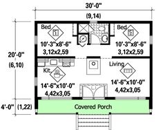 Vacation Cottage - 80735PM | 1st Floor Master Suite, Beach, CAD Available, Canadian, Cottage, Metric, Narrow Lot, PDF, Vacation | Architectural Designs
