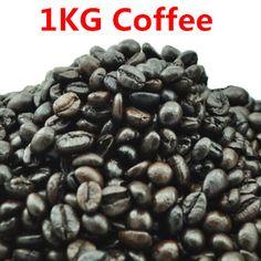 #greentea #yummy #coffee 1KG High-quality Vietnam Coffee Beans Original Baking charcoal roasted Organic food Vina green slimming coffee tea Free shipping