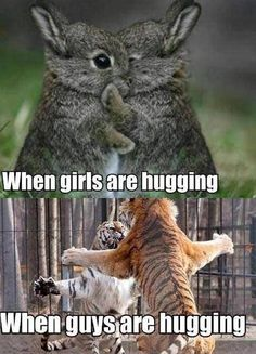 Girl hugging vs guy hugging
