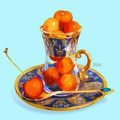 Terracotta, Cute Food Art, Tea Art, Food Drawing, Food Illustrations, Aesthetic Food, Amazing Art, Awesome, Art Reference