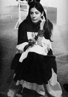 Caroline M. Haenggi-Nicholson in Marimekko. 1974