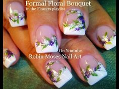 Nail Art Tutorial | DIY Wedding nails | Flower Bridal Nail Design - YouTube