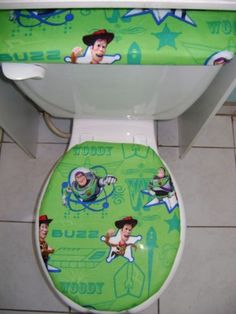 Toy Story Buzz Stars Woody Toilet Seat Cover Set Disney Bathroomakitatoy
