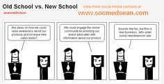 """If you've ever tried to advocate for social media in an environment filled with """"old school"""" media folks, you might empathize with the social media strategist in this new cartoon. While more and more marketing dollars are shifting to digital, there are still people who believe that traditional television, radio, and print are the best for their brand. And maybe they're right...if they sell televisions, radios, or magazines ;)"""