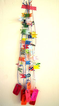 For decoration? For wrapping? Washi tape, bakery's twine and a carnival ticket.