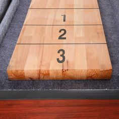 Shop Challenger 9-Ft Shuffleboard Table - Dark Cherry Finish - Overstock - 6217673 Diy Table Saw, A Table, Shuffleboard Games, Mdf Cabinets, Cherry Finish, Table Dimensions, Finger Joint, Table Games, Built In Storage