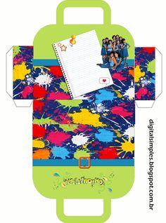 """Kit Personalizado Tema """"Chiquititas"""" para Imprimir - Convites Digitais Simples"""