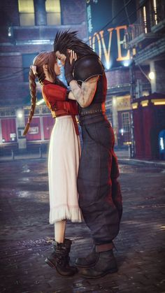 aerith gainsborough and cloud strife final fantasy. Final Fantasy Vii Remake, Cosplay Final Fantasy, Artwork Final Fantasy, Final Fantasy Crisis Core, Tifa Final Fantasy, Final Fantasy Characters, Fantasy Series, Fantasy World, Cloud And Tifa