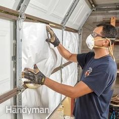 Exactly How to Insulate a Garage Door   The Family Handyman Garage, ideas, man cave, workshop, organization, organize, home, house, indoor, storage, woodwork, design, tool, mechanic, auto, shelving, car.