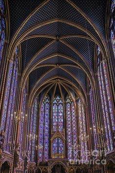 Sainte Chapelle Stained Glass Paris, by Joan Carroll.  Absolutely beautiful!  #Paris