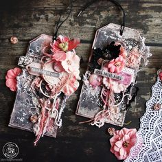 Hello dear blogger friends!   Hope you all are having a wonderful day.     I made a couple of mixed media tags using supplies from my favo...