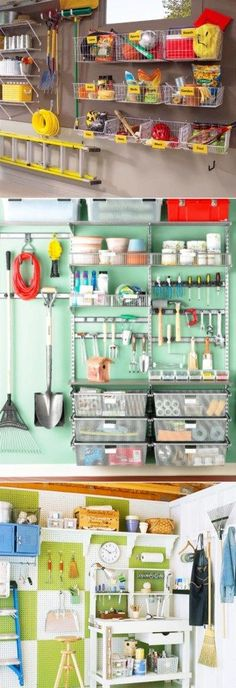 Garage Organization and Storage Ideas - Organize your garage clutter with these 5 quick and cheap garage organizing ideas - DIY Garage organization ideas, tips, storage ideas for the ultimate garage #cluttergarage