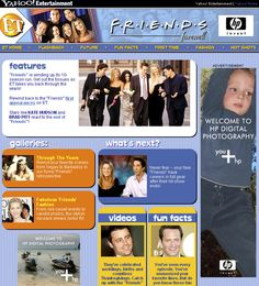 ENTERTAINMENT TONIGHT -- Friends Farewell minisite