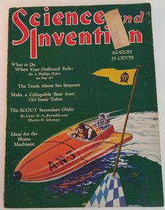 AUGUST 1930 SCIENCE AND INVENTION MAGAZINE- DUNNINGER MAGIC, SAM LOYD PUZZLES