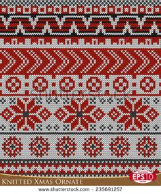Vergelijkbare afbeeldingen, stockfoto's en vectoren van Set of Fair Pattern sweater design on the wool knitted texture. Red and Blue Knitting Cross Stitch Charts, Cross Stitch Designs, Fair Isle Knitting, Fabric Textures, Sweater Design, Needlepoint, Red And Blue, Christmas Diy, Bohemian Rug