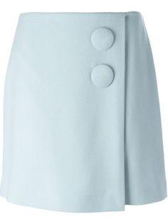 Adam Lippes button wrap skirt