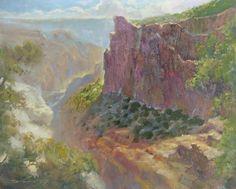Rick J. Delanty, Majesty at Mohave Point, acrylic, 16 x 20.